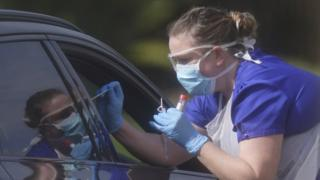 Drive through coronavirus testing