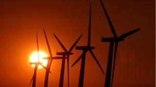 File photo dated 26/08/13 of wind turbines in Oxfordshire,