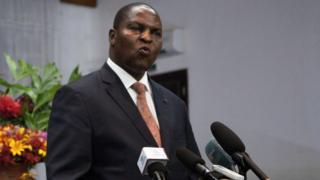 Le président centrafricain Faustin-Archange Touadera