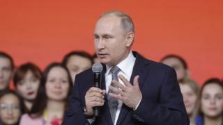 Путин на встрече со студентами в Казани