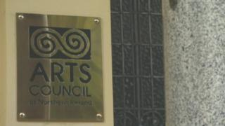 An Arts Council of Northern Ireland sign at the body's headquarters