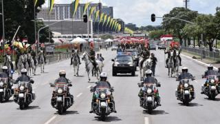 Simulação da posse de Bolsonaro, feita em 30 de dezembro