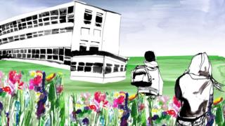 Illustration exterior school