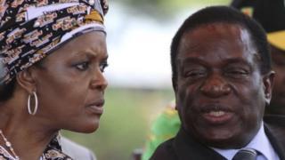 موغابي وزوجته غريس