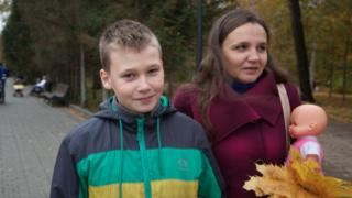 Активистка Екатерина Беляева с сыном Алексеем