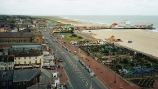 Great Yarmouth seafront including Britannia Pier, pictured from Atlantis Tower