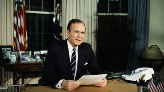 The White House President Bush Speaking from the Oval Office