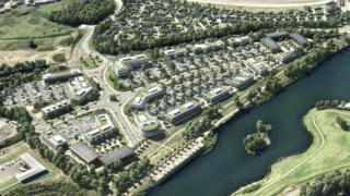 The Delta Lakes site where the three new developments will be located