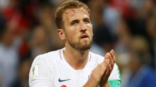 Harry Kane on the pitch clapping