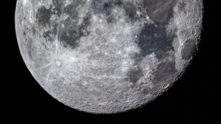 telescope image of the moon surface