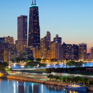 Prédio em Chicago, conhecido antigamente como John Hancock Center