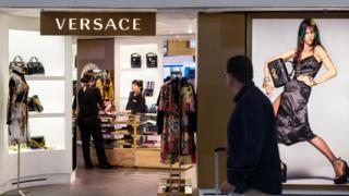 Hong Kong'da bir Versace mağazası
