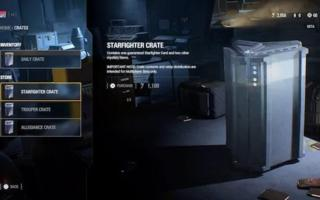 Star wars Battlefron crate loot box.