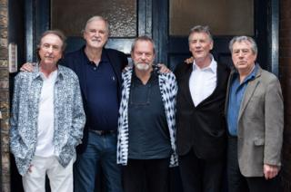 in_pictures Left to right: Eric Idle John Cleese Terry Gilliam Michael Palin and Terry Jones