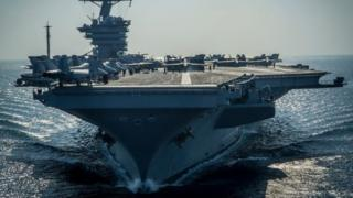 The US aircraft carrier USS Carl Vinson. File photo