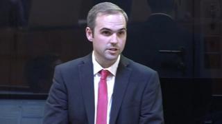 Steffan Lewis speaking in the Senedd