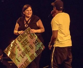 Christina Cruz meets Jay-Z