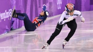 13일 여자 쇼트트랙 500m 경기에 출전한 한국의 최민정