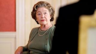 "Rosemary Leach as the Queen in ""Margaret"", a BBC drama about Margaret Thatcher"