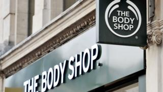 The Body Shop sign