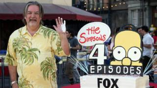 Matt Groening and a Simpsons cake