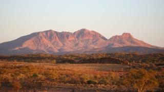 Mount Sonder in central Australia