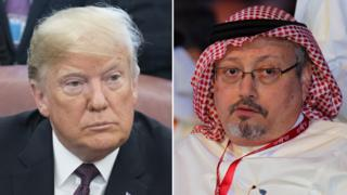Donald Trump and Jamal Khashoggi