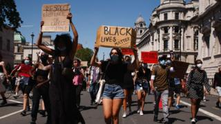 A Black Lives Matter protest in London in May