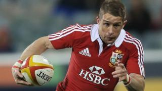 Shane Williams playing for the British and Irish Lions in 2013
