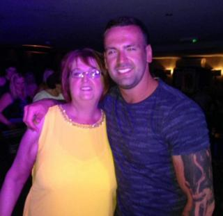 Gary More with his mother