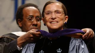in_pictures Ruth Bader Ginsburg smiles as she receives an honorary degree from the John Jay College of Criminal Justice on the institution's 40th anniversary, in New York