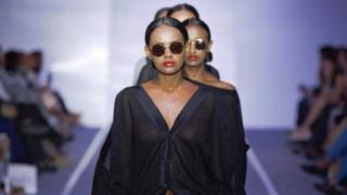 Ethiopian models present creations during the Hub of Africa Fashion week runway show in Addis Ababa, Ethiopia - Thursday 6 October 2016