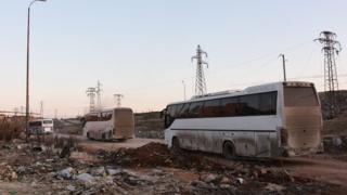 اتوبوسها در حلب
