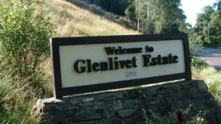 Glenlivet Estate sign