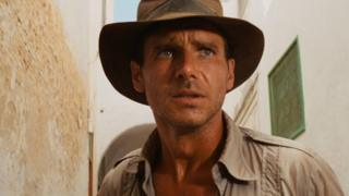 Raiders of the Lost Ark stars Harrison Ford as Indiana Jones