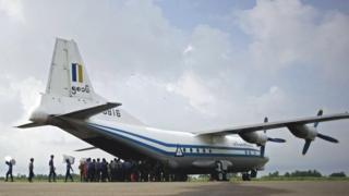Ifoto y'indege ya gisirikare ya Myanmar Air Force Y-8