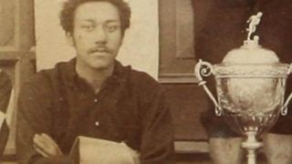Arthur Wharton with the cup