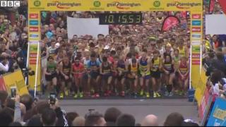 The start line of the Great Birmingham Run 2015