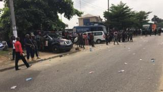 APC Protesters for INEC office for Rivers State