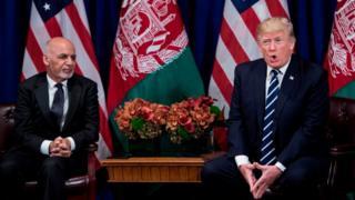 دونالد ترامپ رئیس جمهور افغانستان و اشرف غنی رئیس جمهور افغانستان - عکس از آرشیو