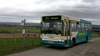 An Arriva bus in Shropshire