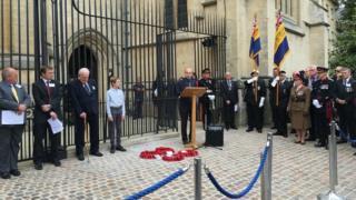 Ceremony to honour Noel Chavasse in Oxford