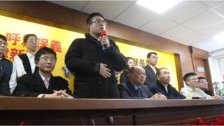 王炳忠在新黨記者會上發言