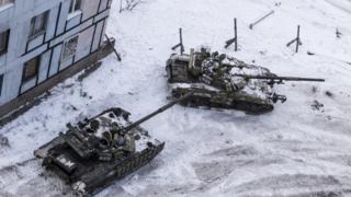 Tanques en Avdiivka