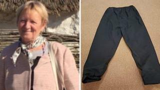 Sandorne Kovacs and the waterproof trousers