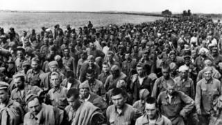 Советские военнопленные, июнь 1942 г., юг Украины