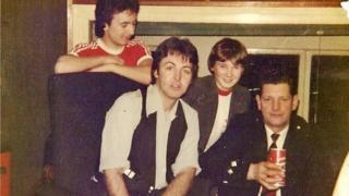 Ian McKerral (left) was just 16 when he played bagpipes on Paul McCartney's Mull of Kintyre