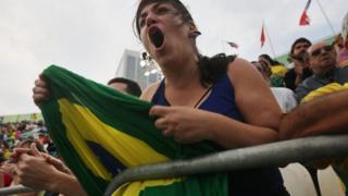 Mulher grita durante partida na Rio 2016