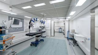 Temporary cataract surgery unit
