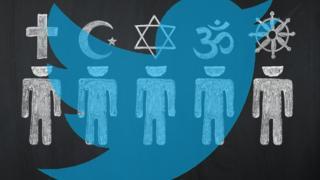 تويتر والرموز الدينية